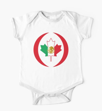 Mexican Canadian Multinational Patriot Flag Series Kids Clothes