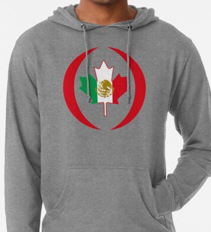 Mexican Canadian Multinational Patriot Flag Series Lightweight Hoodie