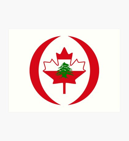 Lebanese Canadian Multinational Patriot Flag Series Art Print