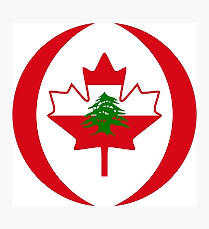 Lebanese Canadian Multinational Patriot Flag Series Photographic Print