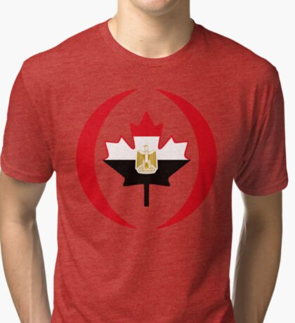 Egyptian Canadian Multinational Patriot Flag Series Tri-blend T-Shirt
