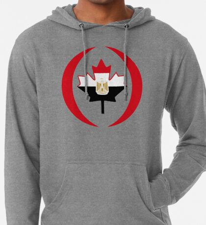 Egyptian Canadian Multinational Patriot Flag Series Lightweight Hoodie
