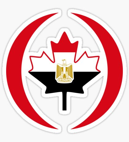 Egyptian Canadian Multinational Patriot Flag Series Sticker