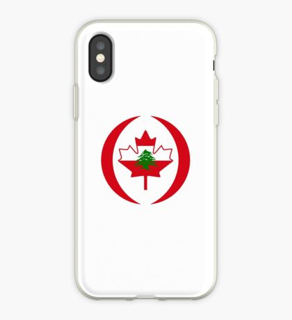 Lebanese Canadian Multinational Patriot Flag Series iPhone Case