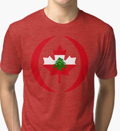 Lebanese Canadian Multinational Patriot Flag Series Tri-blend T-Shirt