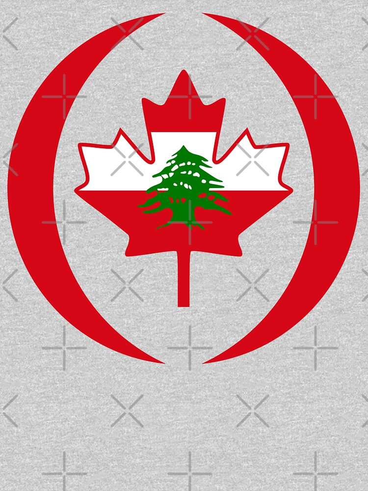 Lebanese Canadian Multinational Patriot Flag Series by carbonfibreme