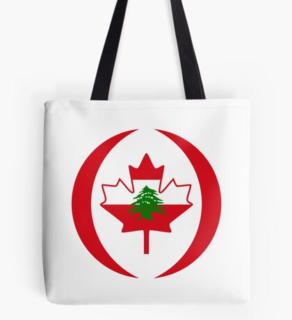 Lebanese Canadian Multinational Patriot Flag Series Tote Bag