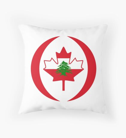 Lebanese Canadian Multinational Patriot Flag Series Throw Pillow