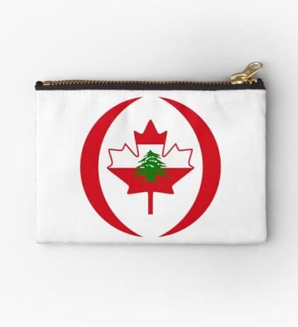 Lebanese Canadian Multinational Patriot Flag Series Zipper Pouch