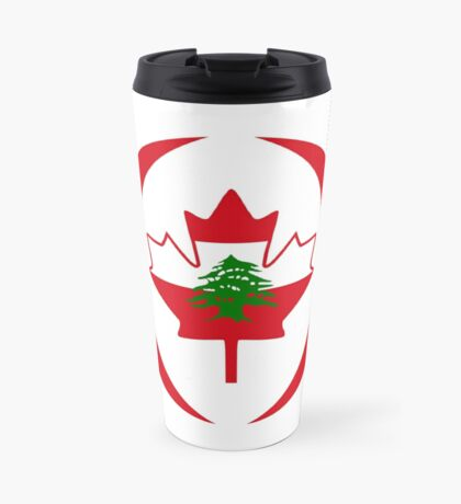 Lebanese Canadian Multinational Patriot Flag Series Travel Mug