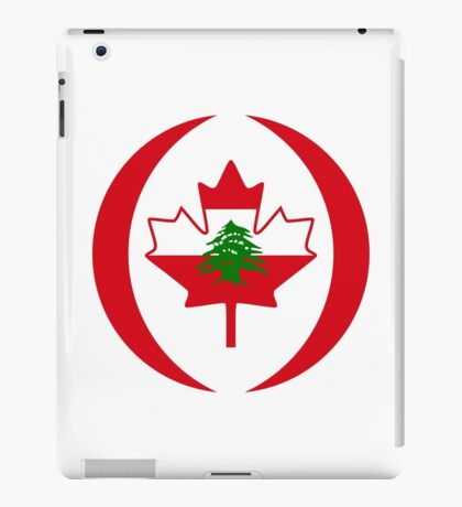 Lebanese Canadian Multinational Patriot Flag Series iPad Case/Skin