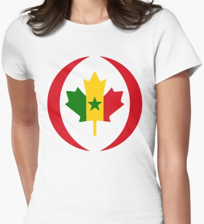 Senegalese Canadiain Multinational Patriot Flag Series T-Shirt
