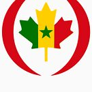 Senegalese Canadiain Multinational Patriot Flag Series by Carbon-Fibre Media
