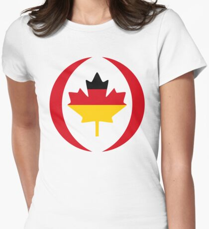 German Canadian Multinational Patriot Flag Series T-Shirt