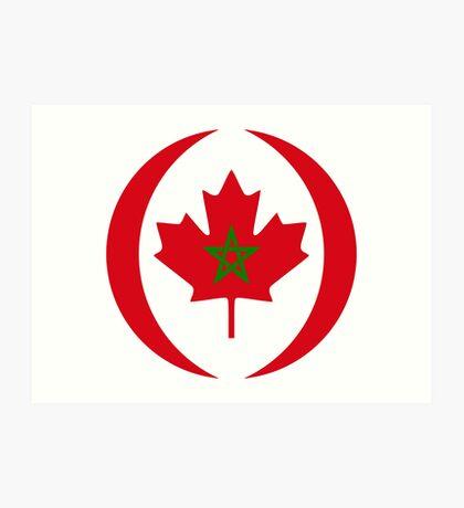 Moroccan Canadian Multinational Patriot Flag Series Art Print