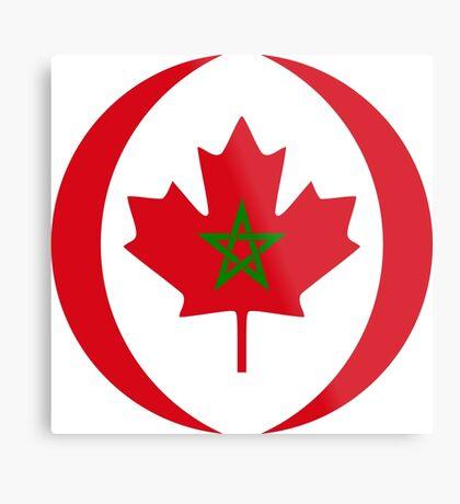 Moroccan Canadian Multinational Patriot Flag Series Metal Print