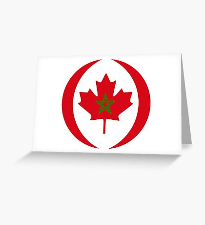 Moroccan Canadian Multinational Patriot Flag Series Greeting Card