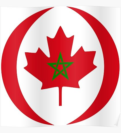 Moroccan Canadian Multinational Patriot Flag Series Poster