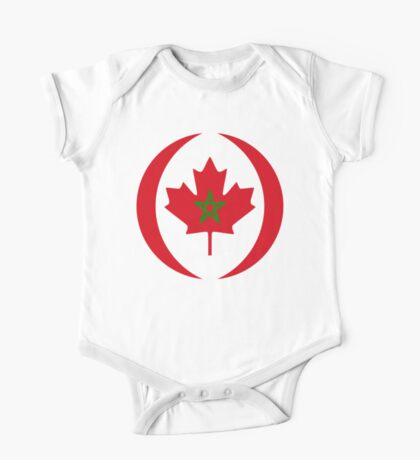 Moroccan Canadian Multinational Patriot Flag Series Kids Clothes