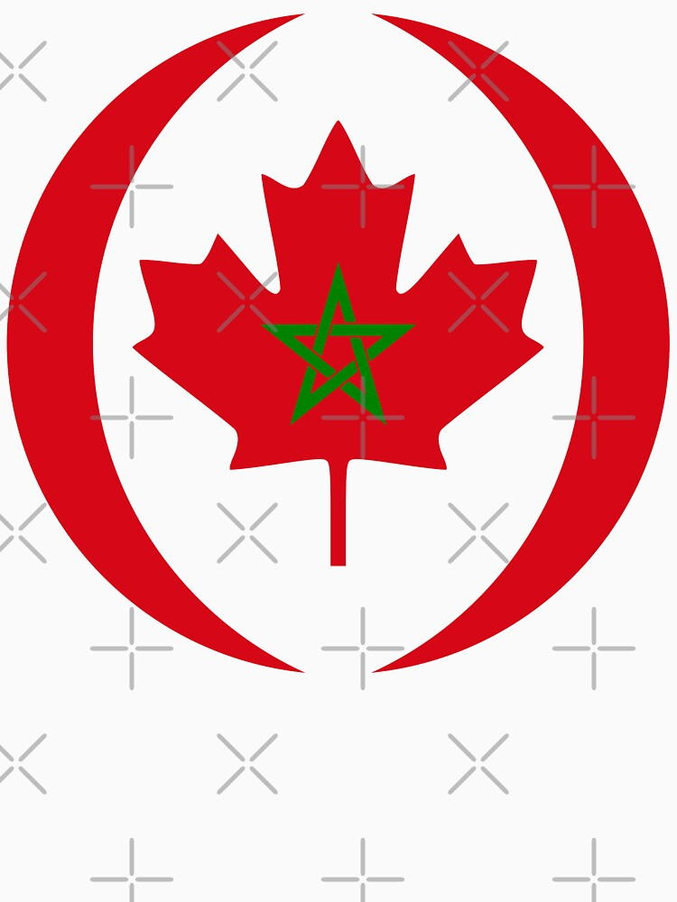 Moroccan Canadian Multinational Patriot Flag Series by carbonfibreme