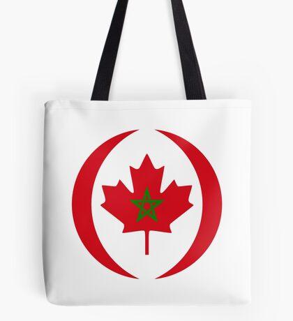Moroccan Canadian Multinational Patriot Flag Series Tote Bag