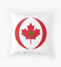Moroccan Canadian Multinational Patriot Flag Series Throw Pillow