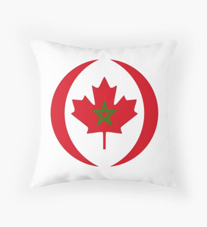 Moroccan Canadian Multinational Patriot Flag Series Throw Pillow