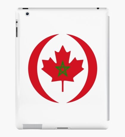 Moroccan Canadian Multinational Patriot Flag Series iPad Case/Skin