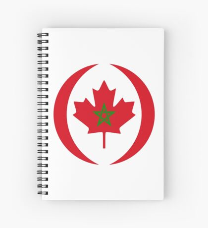 Moroccan Canadian Multinational Patriot Flag Series Spiral Notebook