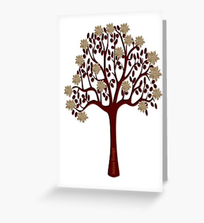 A tree with flowers [1332 Views] Greeting Card