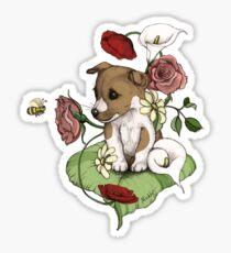 Puppy Bouquet Sticker