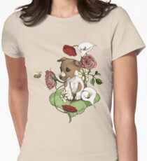Puppy Bouquet Womens Fitted T-Shirt