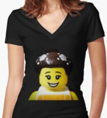 The Ballerina has come to Aaron's Lego Women's Fitted V-Neck T-Shirt