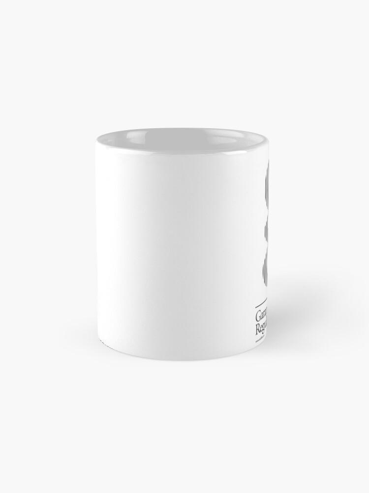 Alternate view of The Letter G Garamond Type Mug