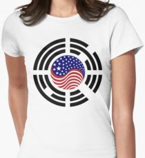 Korean American Multinational Patriot Flag Series 4.0 Women's Fitted T-Shirt