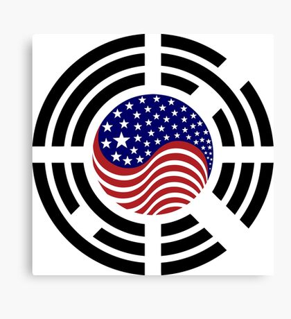Korean American Multinational Patriot Flag Series 4.0 Canvas Print