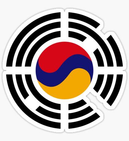 Korean Armenian Multinational Patriot Flag Series Sticker