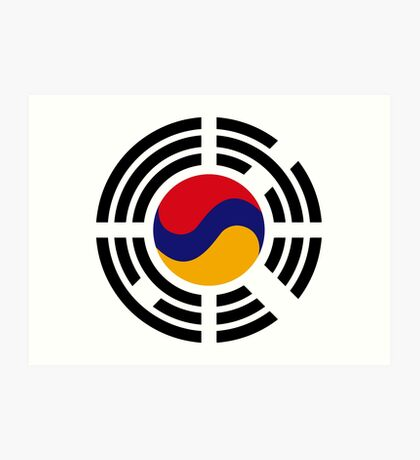 Korean Armenian Multinational Patriot Flag Series Art Print