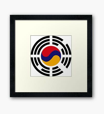 Korean Armenian Multinational Patriot Flag Series Framed Print
