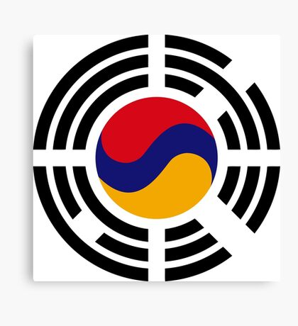 Korean Armenian Multinational Patriot Flag Series Canvas Print