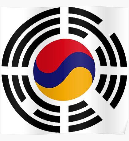 Korean Armenian Multinational Patriot Flag Series Poster