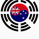 Korean Kiwi (New Zealand) Multinational Patriot Flag Series by Carbon-Fibre Media