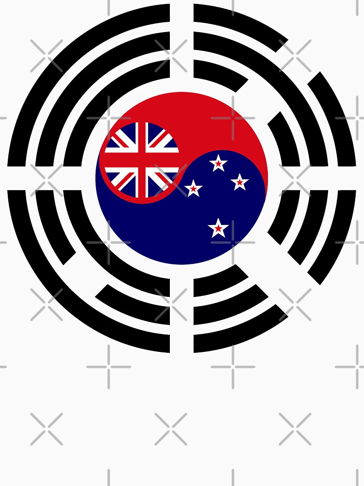 Korean Kiwi (New Zealand) Multinational Patriot Flag Series by carbonfibreme