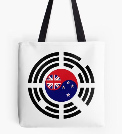 Korean Kiwi (New Zealand) Multinational Patriot Flag Series Tote Bag