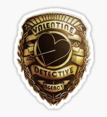 Valentine Detective Agency Gold Sticker