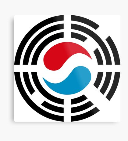 Korean Luxembourg Multinational Patriot Flag Series Metal Print