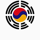 Korean Armenian Multinational Patriot Flag Series by Carbon-Fibre Media