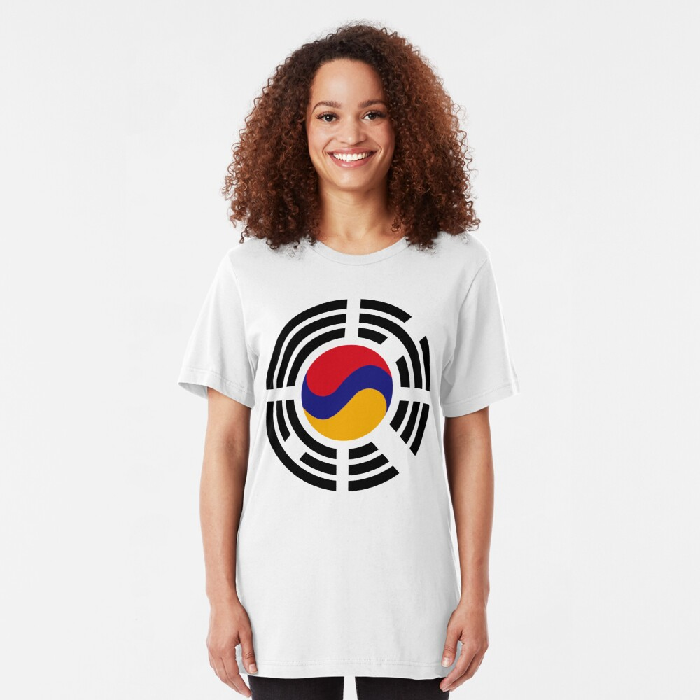 Korean Armenian Multinational Patriot Flag Series Slim Fit T-Shirt