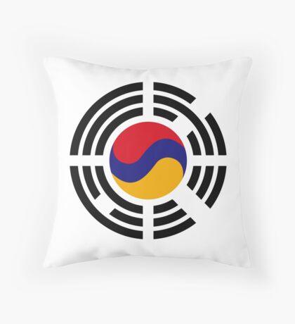 Korean Armenian Multinational Patriot Flag Series Throw Pillow