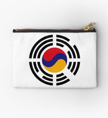 Korean Armenian Multinational Patriot Flag Series Zipper Pouch